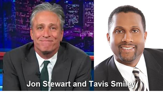 Jon Stewart and Tavis Smiley